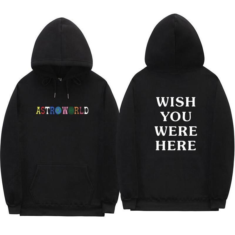 Travis Scott Astroworld WISH YOU WERE HERE hoodies fashion letter print Hoodieiehrb-iehrb
