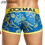 JOCKMAIL Brand Sexy underwear men boxershorts men playful printed Gay Underwear cueca boxer Male Panties calzoncillos slips Hot-iehrb