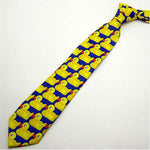 Yellow Funny Rubber Duck Tie Men's Fashion Casual Fancy Ducky Professional Necktieiehrb-iehrb