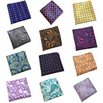 Yellow Floral Pocket Squares Blue Paisley Handkerchiefs For Men Women Fashioniehrb-iehrb