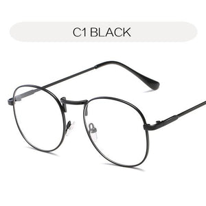 b9baee4d63d0d YOOSKE Round Clear Glasses Frame Woman Vintage Transparent Optical  Eyeglasses Frames Goldiehrb-iehrb