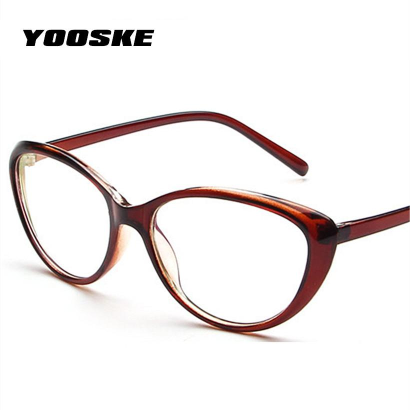 YOOSKE Vintage Fashion Men Women Cat Eye Eyeglasses Frame Anti-fatigue Foggles Spectacleiehrb-iehrb