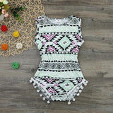 Sleeveless Patterned Romper