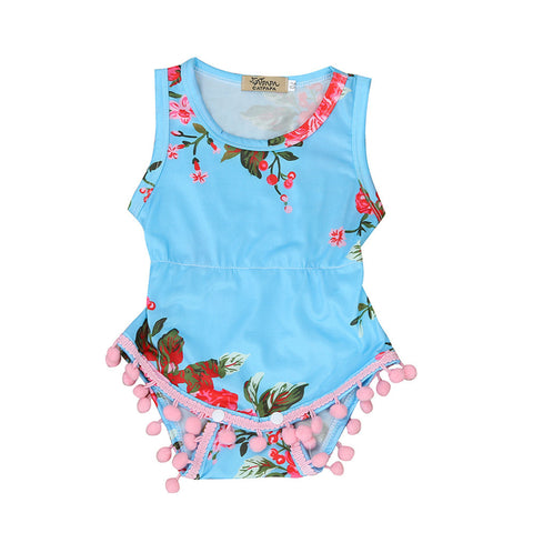 Sleeveless Floral Pattern Romper
