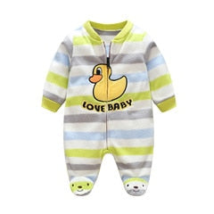 3M-12M Infant Footies Newborn Baby Boys Girls Winter Clothes Colorful 100% Cotton Character Clothing Unisex Autumn Jumpsuits