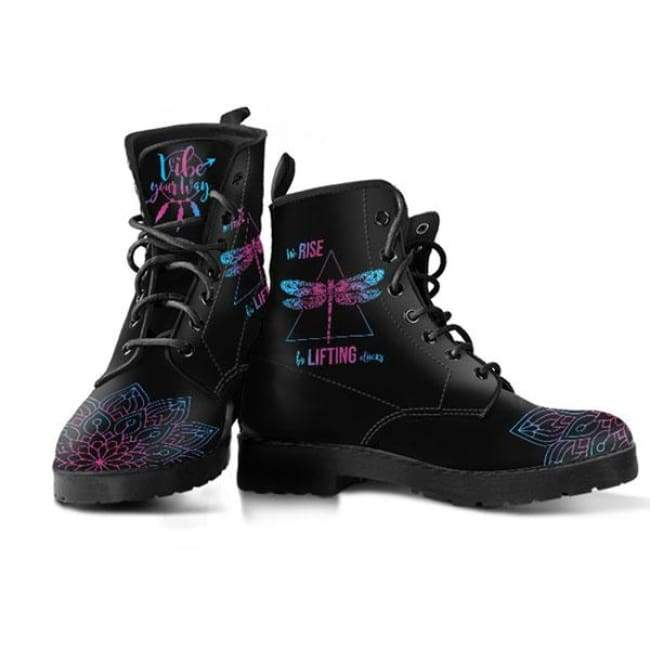 we rise by lifting others vegan leather boots vibe your waywe rise by lifting others