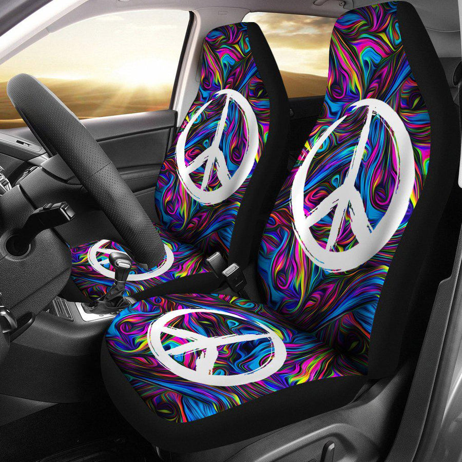 Spiral Peace Vibes Car Seat Covers