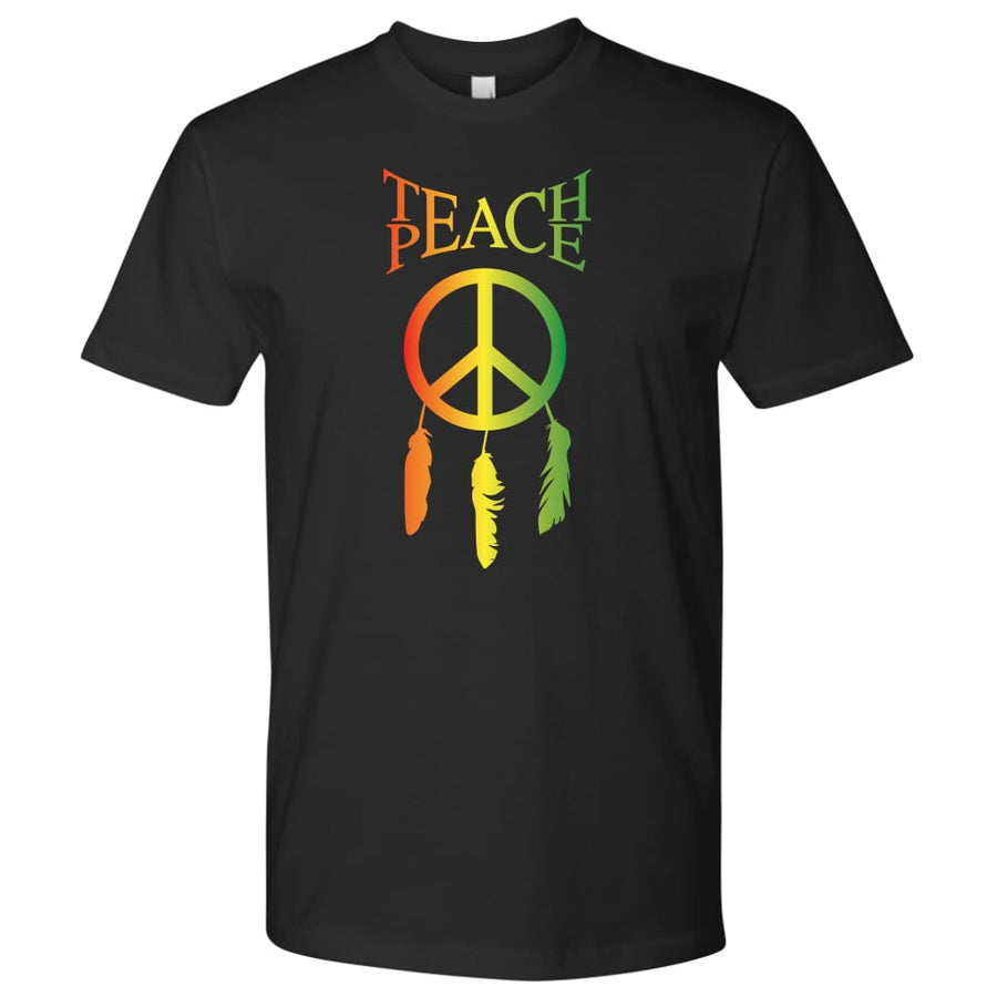 Teach Peace - Unisex Hoodie / Black / S - T-Shirt