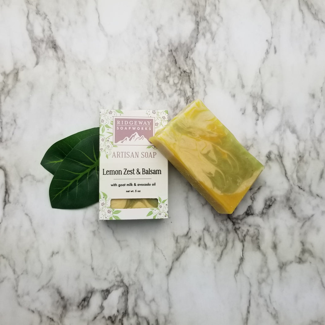 Lemon Zest & Balsam Soap