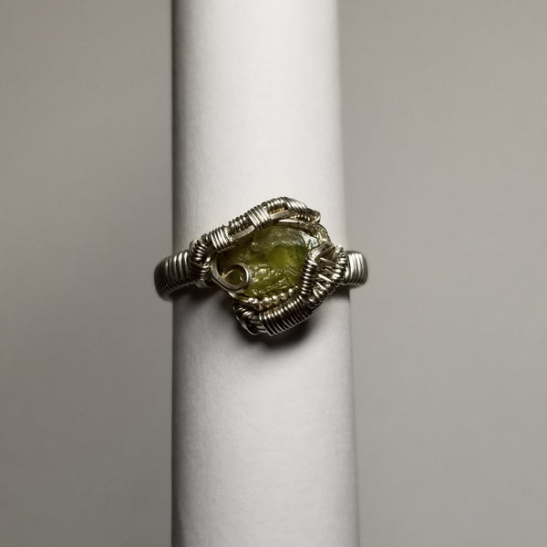 Size 8 tourmaline / silver ring