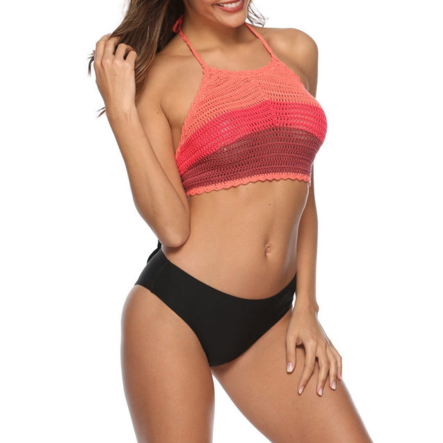 Crochet Push Up Bikini Set