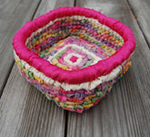 Color Crazy Pattern Trinkets Basket for 3.75 Mesh Canvas