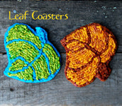 Color Crazy Pattern Leaf Coasters