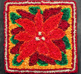 Color Crazy Pattern Poinsettia Mat