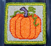 Color Crazy Pattern Fall Pumpkin Mat