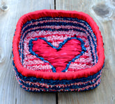 Color Crazy Pattern Heart Trinkets Box