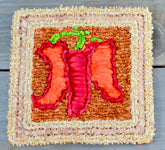 Color Crazy Pattern Sweet Peppers Mat or Trivet