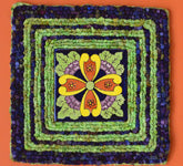 Color Crazy Pattern French Garden Trivet