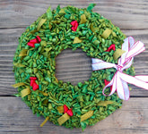 Color Crazy Pattern Holiday Wreath Door Accent