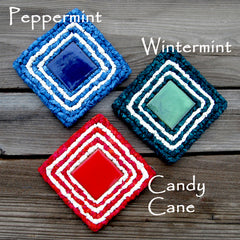 holiday candy coasters
