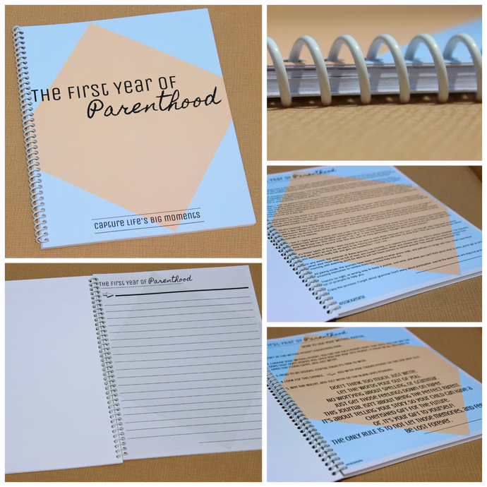 The First Year of Parenthood Journal (Spiral Bound) journal- TGODesigns