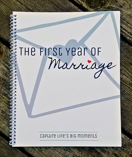 The First Year of Marriage Journal (Spiral Bound) journal- TGODesigns