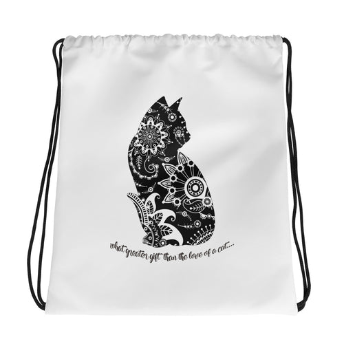 Cat Madala Drawstring bag Drawstring Bag- TGODesigns