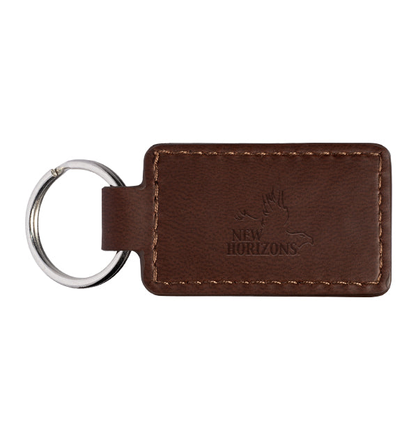 Leather Rectangle Key Ring