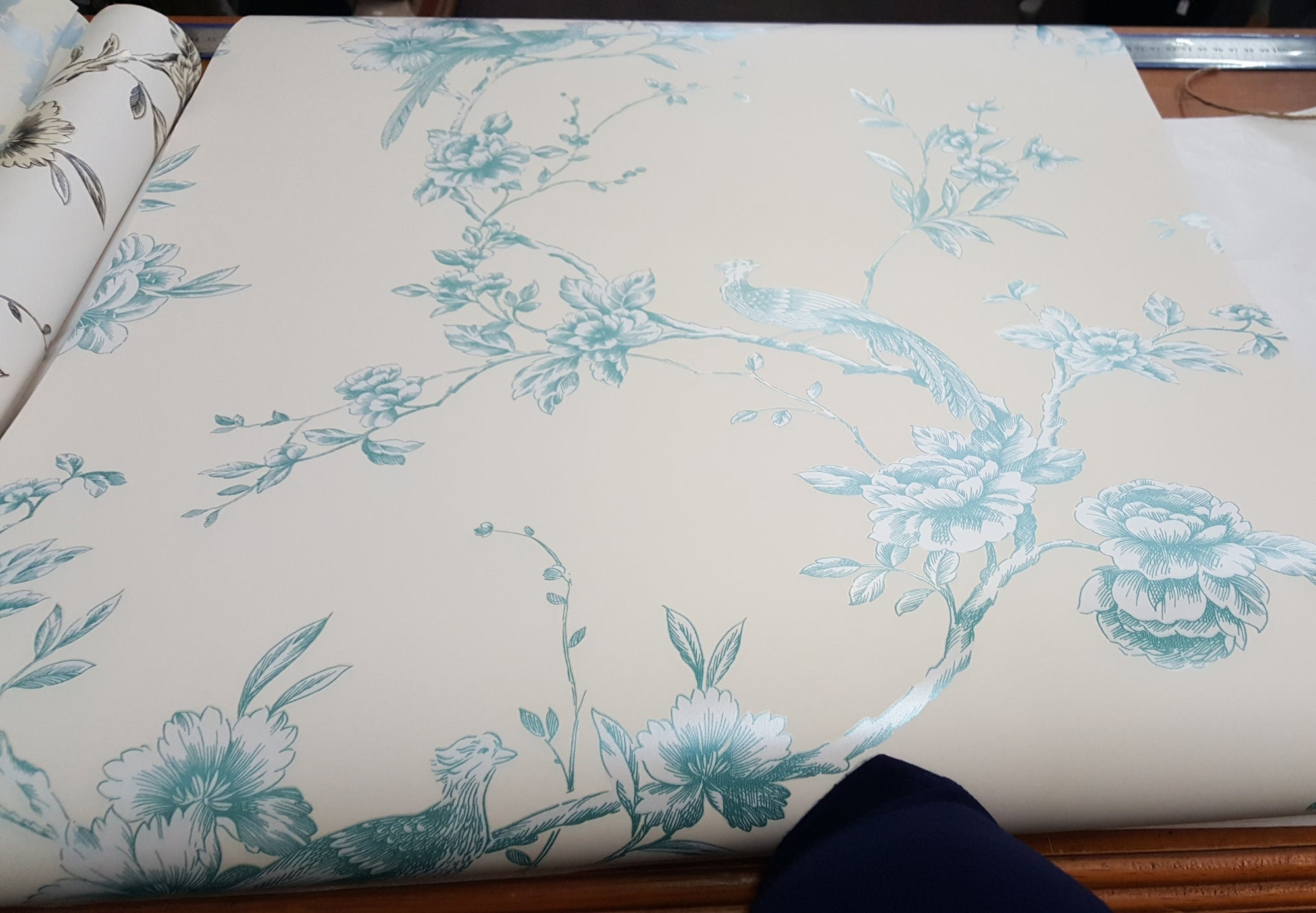 Chinoise- TEAL Wallpaper 1m