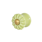 Lime Green Ceramic Knob (small)