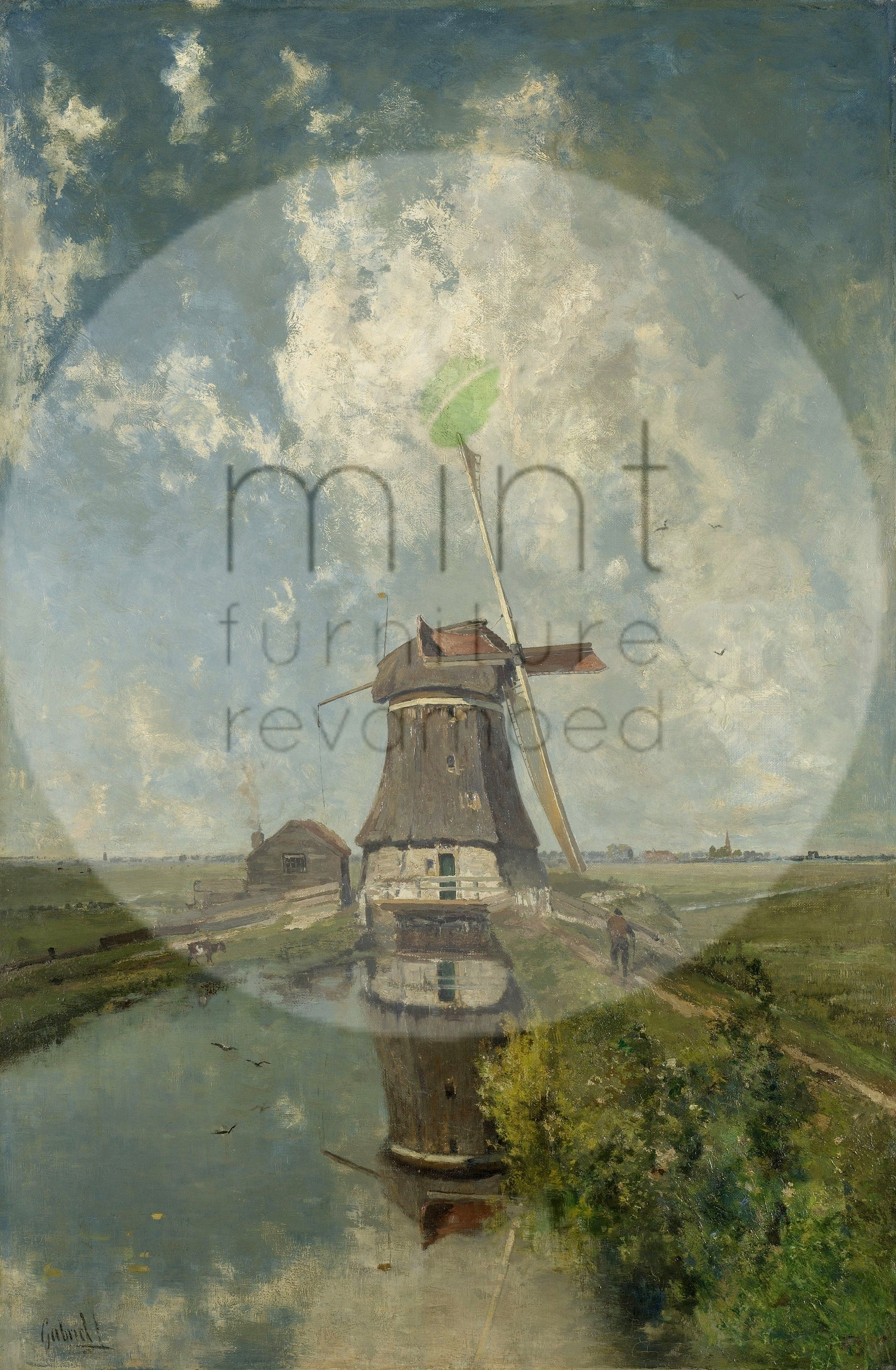 Windmill MINT Decoupage Paper