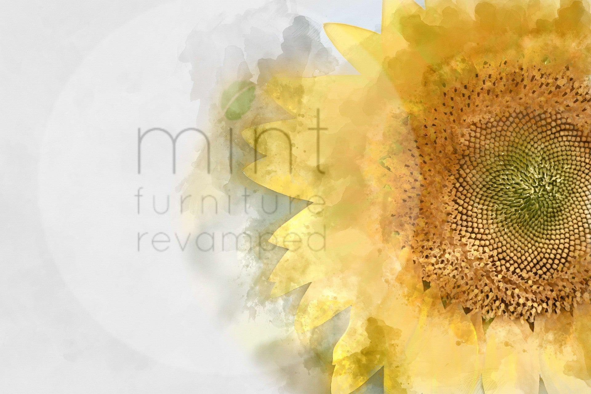 Sunflower MINT Decoupage Paper