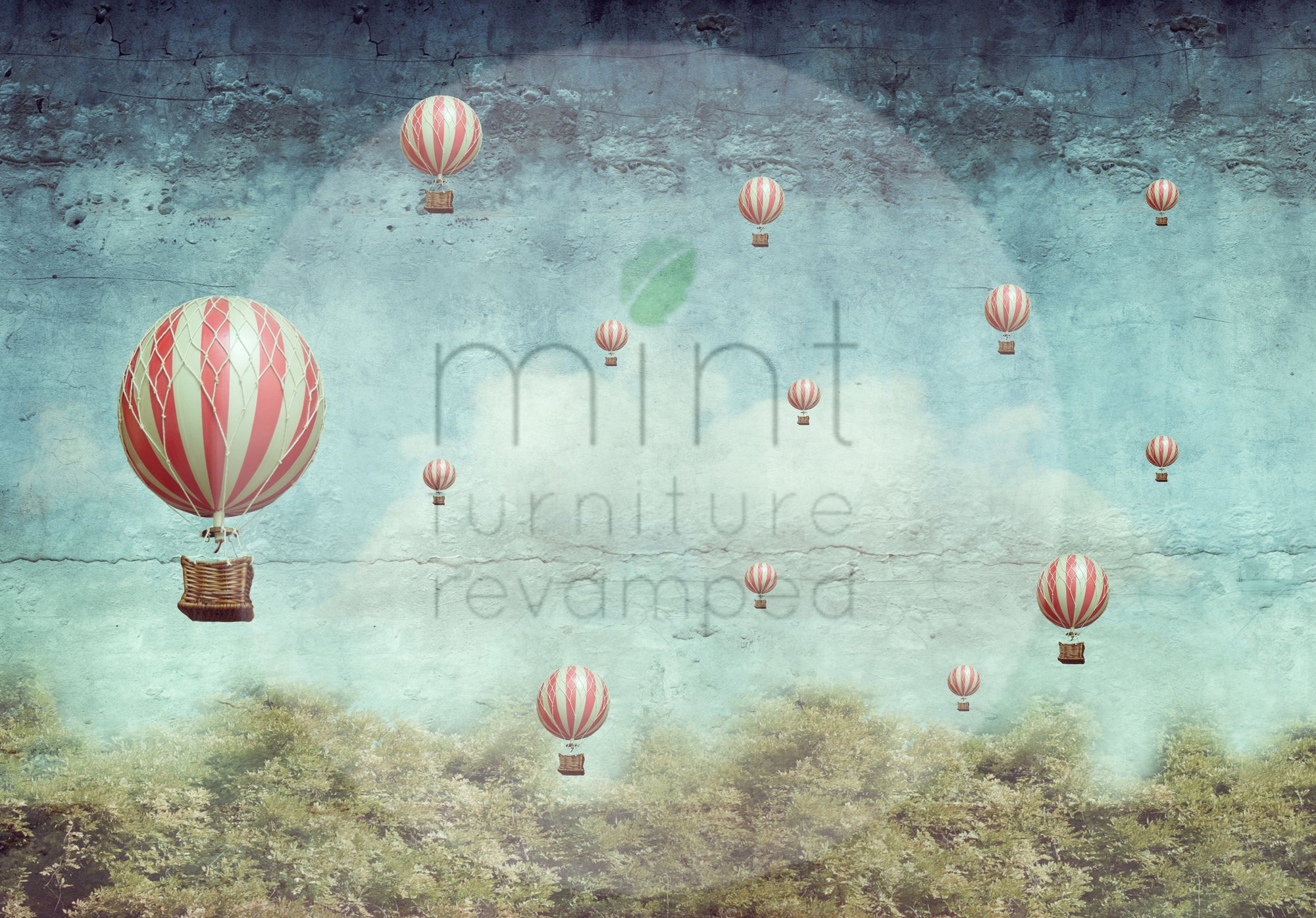 Balloons MINT Decoupage Paper