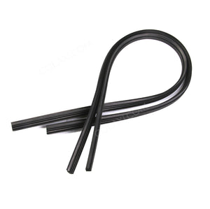 2x Universal Frameless Wiper Blade Rubber Strips Replacement Refill 6mm 28""