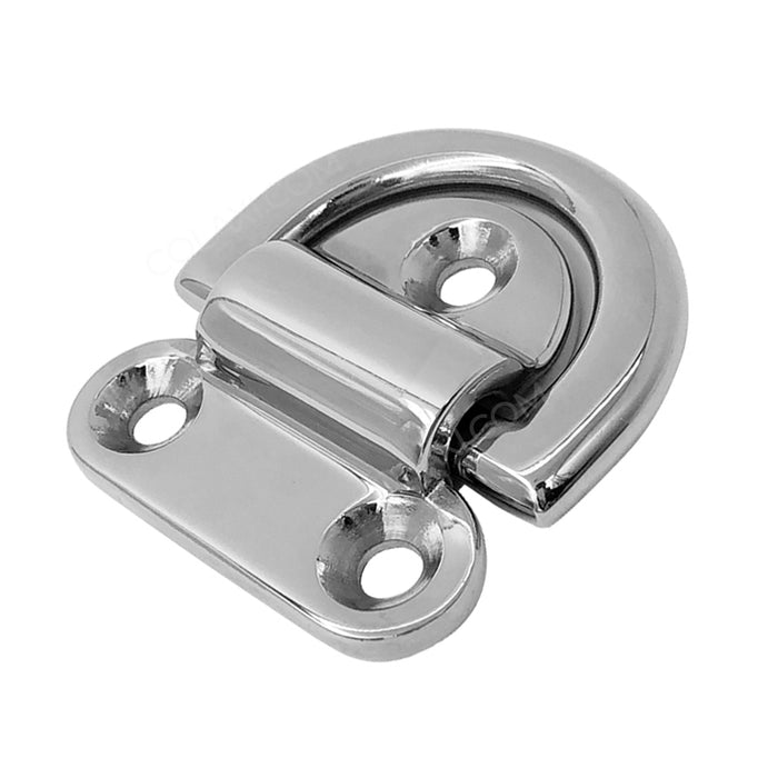 Small Folding Pad Eye Deck Lashing Ring Staple Cleat for Trailer Marine Boat