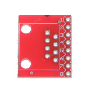 RJ45 Connector (8P8C) and Breakout Board Kit for Ethernet Jacks