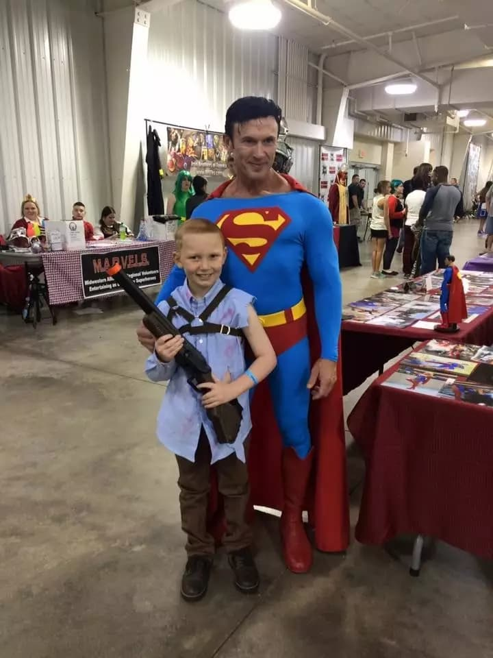 Gabriel Marshall with Superman