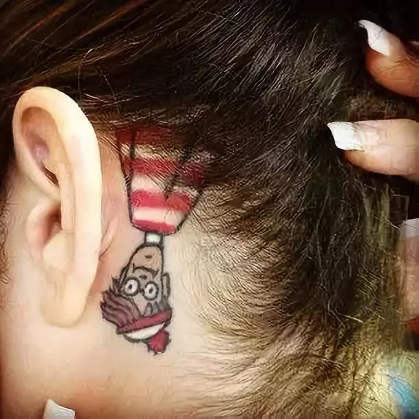 ear tattoos for girls