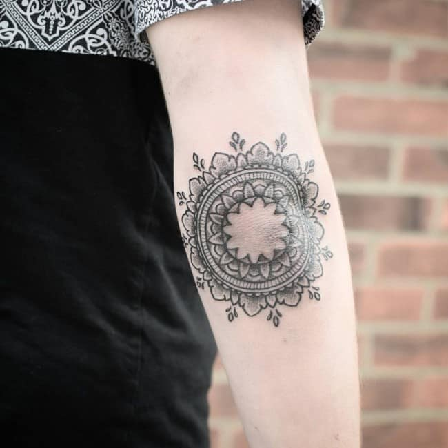 elbow tattoo for girls