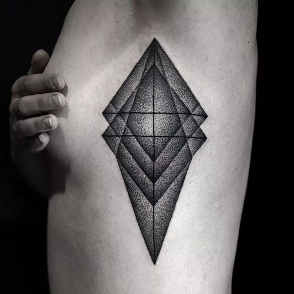 geometric tattoo for women