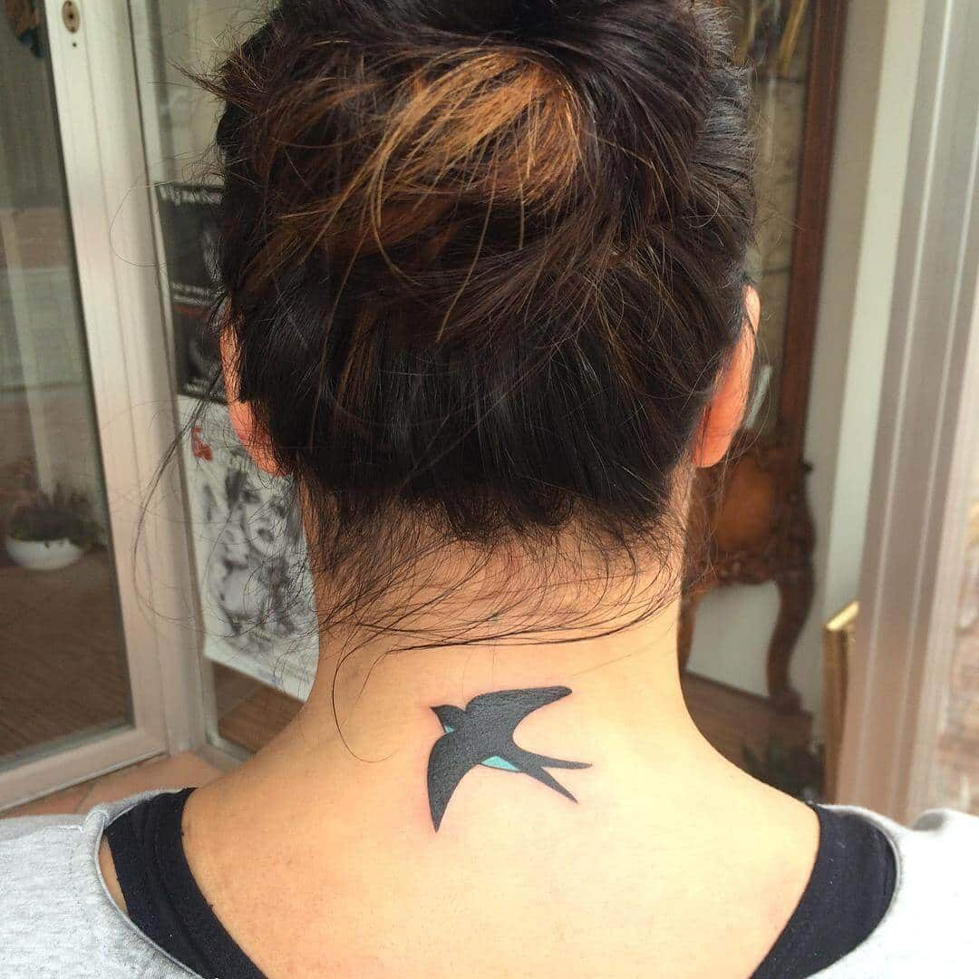 neck tattoo for girls