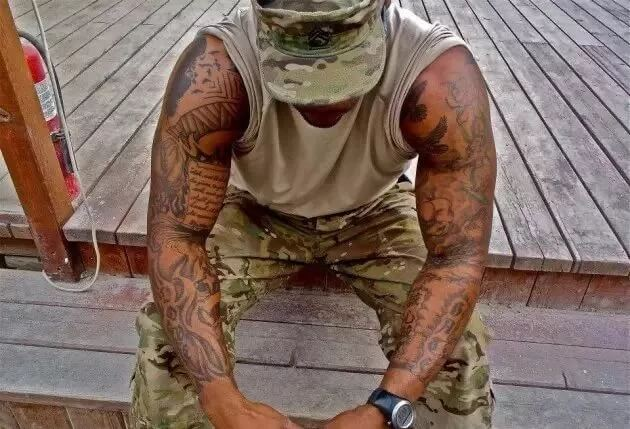 tattoed solider