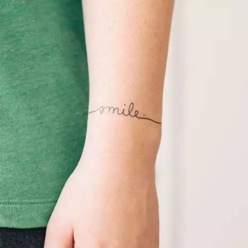 wrist tattoo for girl