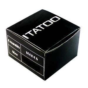 Wormhole purple tattoo tubes in a black box