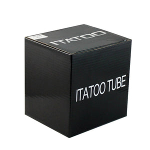 "25pcs 1"" Round Soft Black Disposable Tattoo Tubes - wormholetattoo"