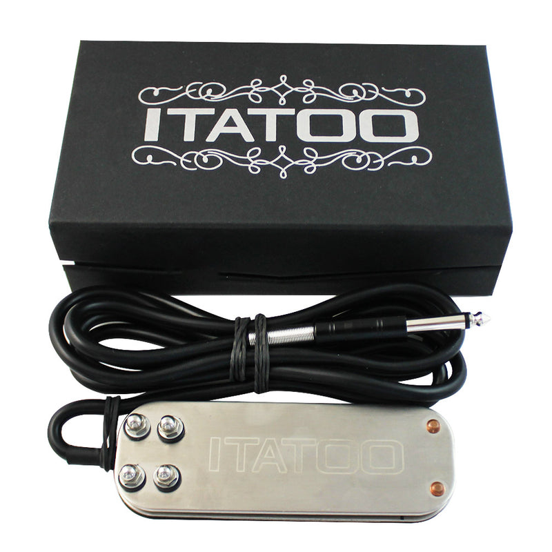 Wormhole Stainless Steel Tattoo Pedal with Box