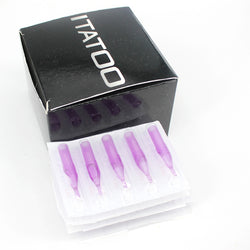 ITATOO 100pcs Diamond Sterile Purple Plastic Disposable Tattoo Tips - wormholetattoo