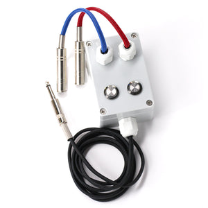 Tattoo Switch Dual Machines Connection Clip Cord Control Box for Power Supply - wormholetattoo