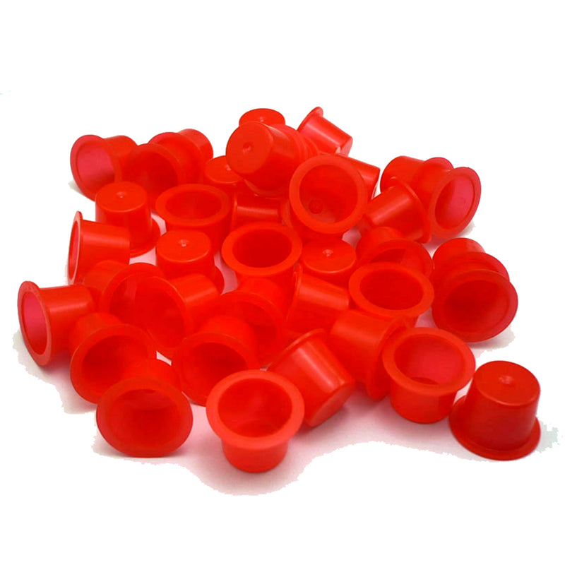 ITATOO 1000pcs Red Tattoo Ink Cups Mixed Sizes #9 Small #13 Medium #16 Large - wormholetattoo