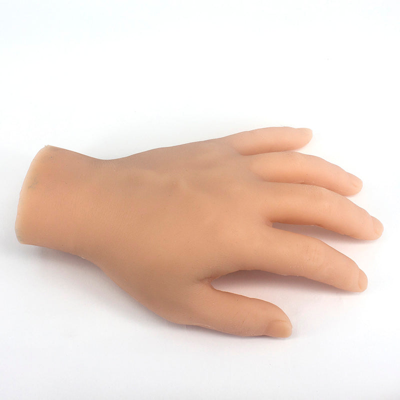 ITATOO Silicone Practice Hand Fake Tattoo Hand Dummy Fake Skin  (Left Palm) - wormholetattoo